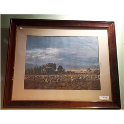 FRAMED PRINT OF SHEEP