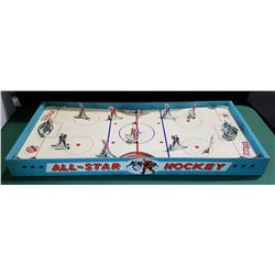 HARD TO FIND VINTAGE 1950'S ALL STAR MEHCANICAL HOCKEY GAME