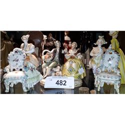 3 GERMAN PORCELAIN FIGURINES