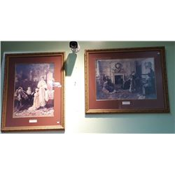 PAIR OF GILT FRAMED PRINTS