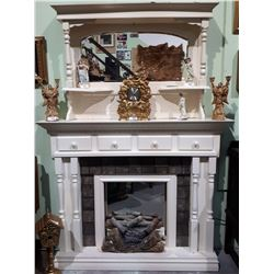 FIREPLACE SURROUND WITH MIRRORED GALLERY