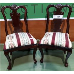 PAIR OF SAILSMEN SAMPLE CHAIRS