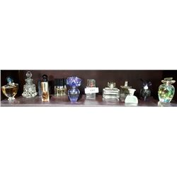 12 COLLECTIBLE PERFUME BOTTLES