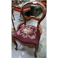VICTORAN BALLOON BACK PARLOUR CHAIR