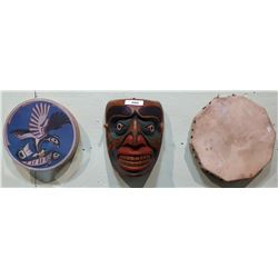 3 PCS OF NATIVE ART