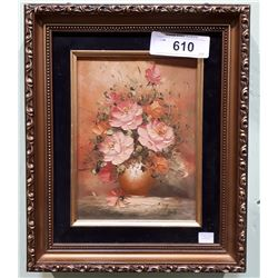 GILT FRAMED OIL PAINTING WITH HIDDEN JEWELREY BOX