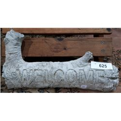 CONCRETE WELCOME SIGN