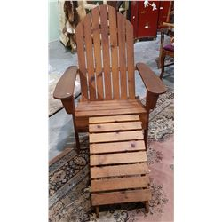 VINTAGE ADIRONDACK CHAIR AND STOOL