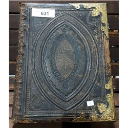 LARGE VICTORIAN BIBLE W/ILLUSTRATIONS