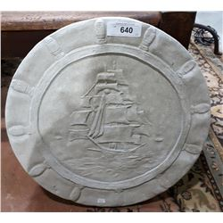 CONCRETE SHIP GARDEN STEPPING STONE