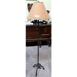 CAST IRON FLOOR LAMP WITH MOOSE MOTTIF