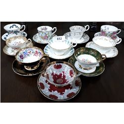 10 CHINA TEACUPS & SAUCERS