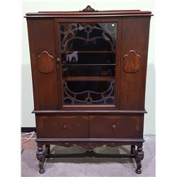 1930/40'S CANADIANA OAK CHINA CABINET