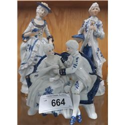 3 VINTAGE PORCELAIN FIGURINES