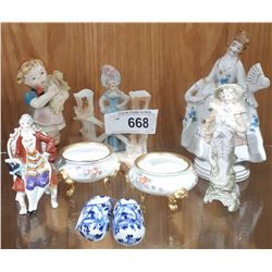 9 PCS OF COLLECTIBLE CHINA FIGURINES