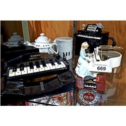 6 PC COLLECTION OF PIANO ORNAMENTS