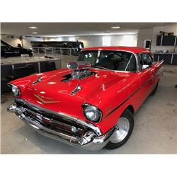 3:00PM SATURDAY FEATURE 1957 CHEVROLET BEL AIR CUSTOM