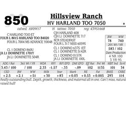 HV HARLAND TOO 7050