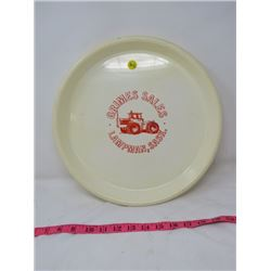 "ADVERTISING SERVING TRAY (GRIMES SALES, LAMPMAN, SK) *13""*"