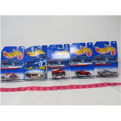 LOT OF 5 HOT WHEELS (N.O.S.)
