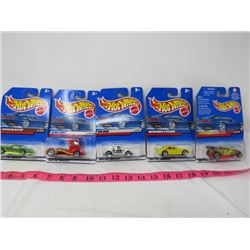 LOT OF 5 HOT WHEELS (UNOPENED)
