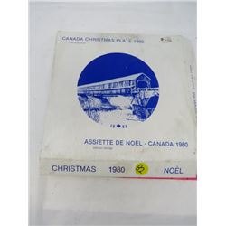 CHRISTMAS COLLECTORS PLATE (CANADIAN) *1980*