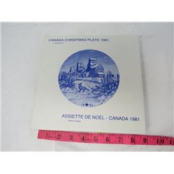 CHRISTMAS COLLECTORS PLATE (CANADIAN) *1981*