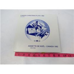 CHRISTMAS COLLECTORS PLATE (CANADIAN) *1982*