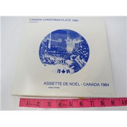 CHRISTMAS COLLECTORS PLATE (CANADIAN) *1984*