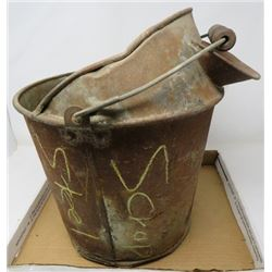 METAL PAIL (WITH POUR SPOUT) *RUSTED THROUGH ON BOTTOM)