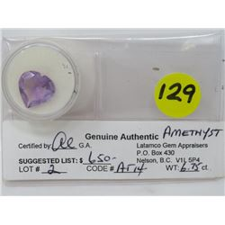 AMESTHYST (IMPERIAL PURPLE, CLEAN PEAR SHAPE) *CARAT WEIGHT 4.11*