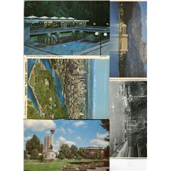 LOT OF 30 ASSORTED POSTCARDS (WORLD SCENERY AND BUILDINGS) *CALGARY, ROCKIES, RADIUM HOT SPRINGS, ET