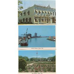 LOT OF 3 ASSORTED POSTCARDS AND 2 SETS OF 9 AND 6  (OHIO) *OCEAN CITY, LORAIN, OHIO, ETC..*