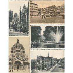 LOT OF 19 ASSORTED POSTCARDS (BRUSSELS) *BRUSSELS SCENERY AND BUILDINGS, ETC..*