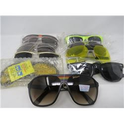 LOT OF 11 ASSORTED SUNGLASSES (SAFETY GLASSES, NIGHT DRIVING, ETC...) *N.O.S.*