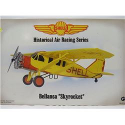 COLLECTIBLE MODEL AIRPLANE (1920 TO 1930s ERA BELLANCA SKYROCKET) *N.O.S., FIRST GEAR, SHELL HISTORI