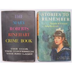 LOT OF 2 HARDBACK BOOKS (MARY ROBERTS RINEHART CRIME BOOK, STORIES TO REMEMBER-COSTAIN/BEECROFT)