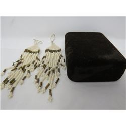 SET OF EARINGS (BEADED) *HAND CRAFTED*