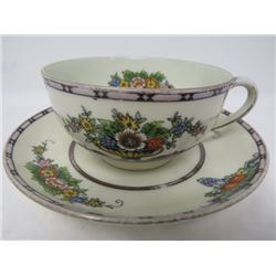 TEACUP AND SAUCER (NORITAKE, MADE IN JAPAN) *HAND PAINTED*