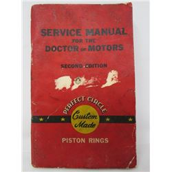 SERVICE MANUAL (DOCTOR OF MOTORS, PISTON RINGS) *SECOND EDITION 1948*