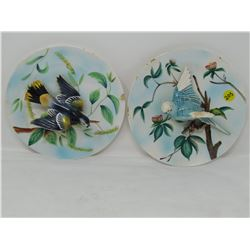 LOT OF 2 DECORATIVE PLATES (PARAKEET, BALTIMORE ORIELLE) *HAND NUMBERED*