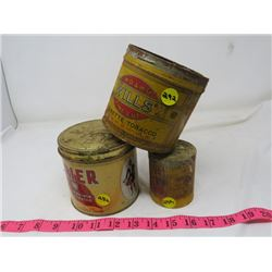 LOT OF TOBACCO ITEMS (3 TINS BRIER, MURRAY'S MILLS)