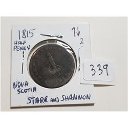1815 N.S. STARR AND SHANNON HALF PENNY