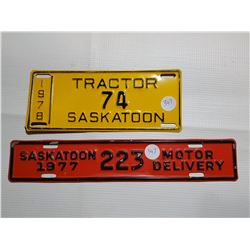TRACTOR AND MOTOR DELIVERY PLATES (1977, 1978)