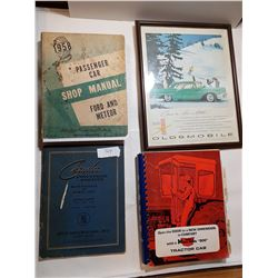 LOT OF 3 OLD MANUALS AND OLDS 88 PICTURE
