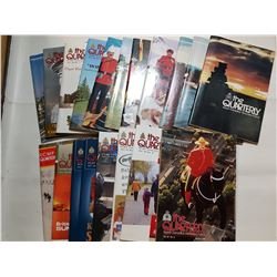 LOT OF 18 RCMP QUARTERLY BOOKS (VARIOUS YEARS)