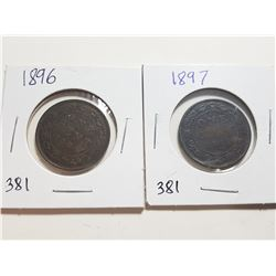 1902 AND 1903 ONE CENT COINS  (VICTORIA)