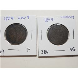 1859 NARROW 9 AND 1859 LOW 9 VARIETY