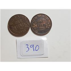 1925 AND 1926 ONE CENT COINS
