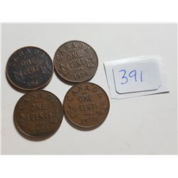 1927-28-29-30 ONE CENT COINS